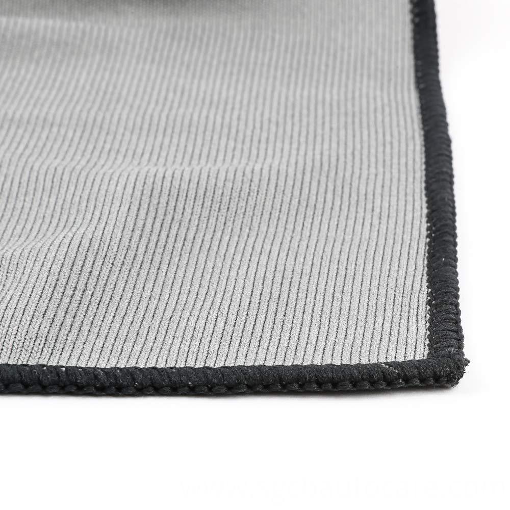 Kit Toalhas de Microfibras para Vidros Cinza 290gsm 40X40 SGCB com 12 peças