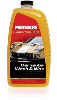 Shampoo com Carnaúba Califórnia Gold Wash and Wax MOTHERS 1,892L