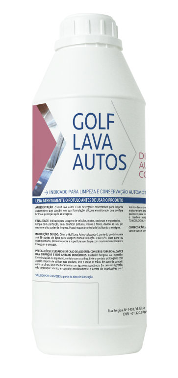 Shampoo Lava Auto Golf PH Neutro 1:100 com Resina 1L