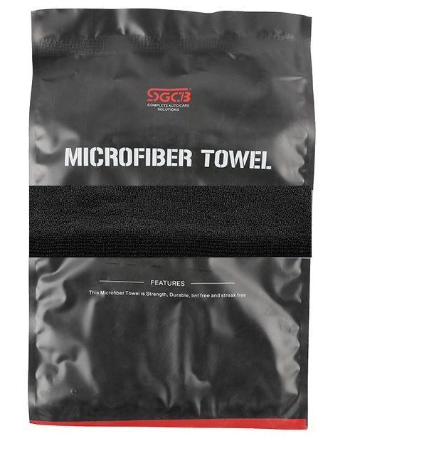 Toalha de Microfibra Dust Preta 380GSM SGCB 40X40