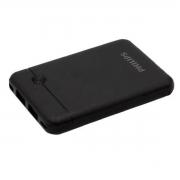 Carregador Portátil Preto Bateria Power Bank 4.000Mah Com Cabo USB