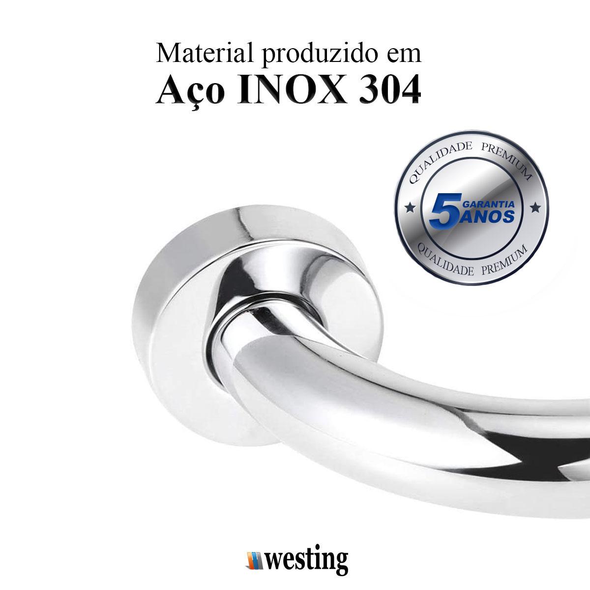Barra de apoio para Banheiro de aço Inoxidável 40cm - Westing