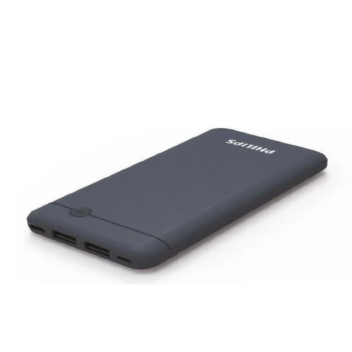 Carregador Portátil Azul Bateria Power Bank 4.000Mah Com Cabo USB