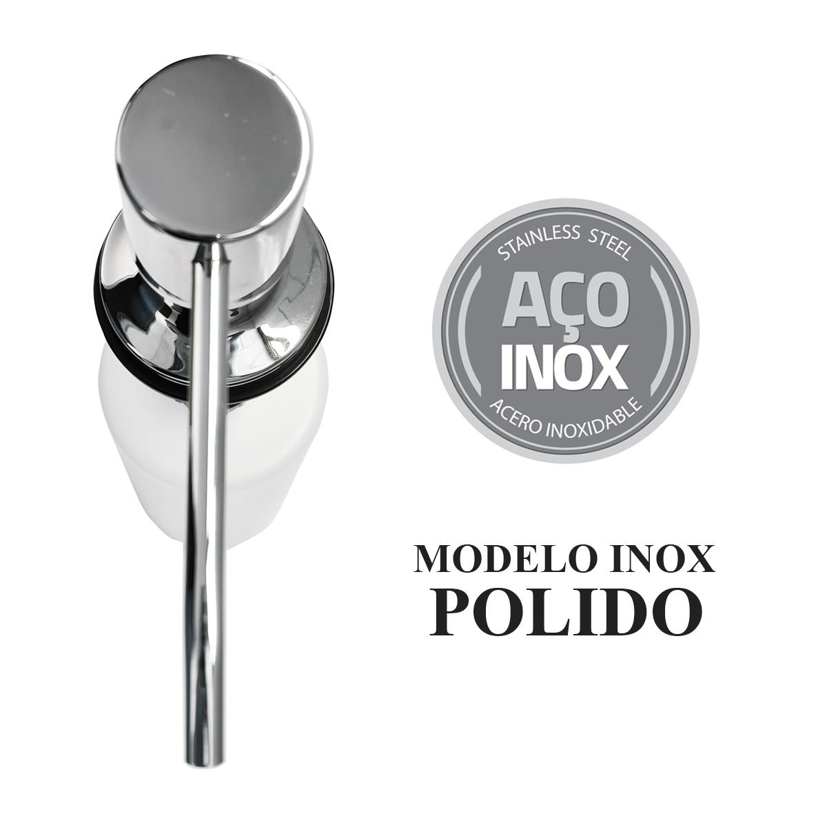 Dispenser e Dosador Inox 304 Polido de detergente sabão liquido para Bancada Embutir - Westing