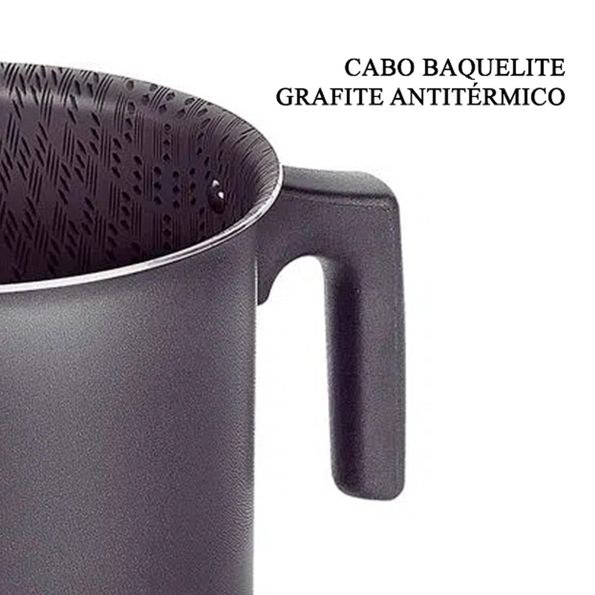 Fervedor Tramontina 14 cm Paris 1,9 L Antiaderente Alumínio Grafite