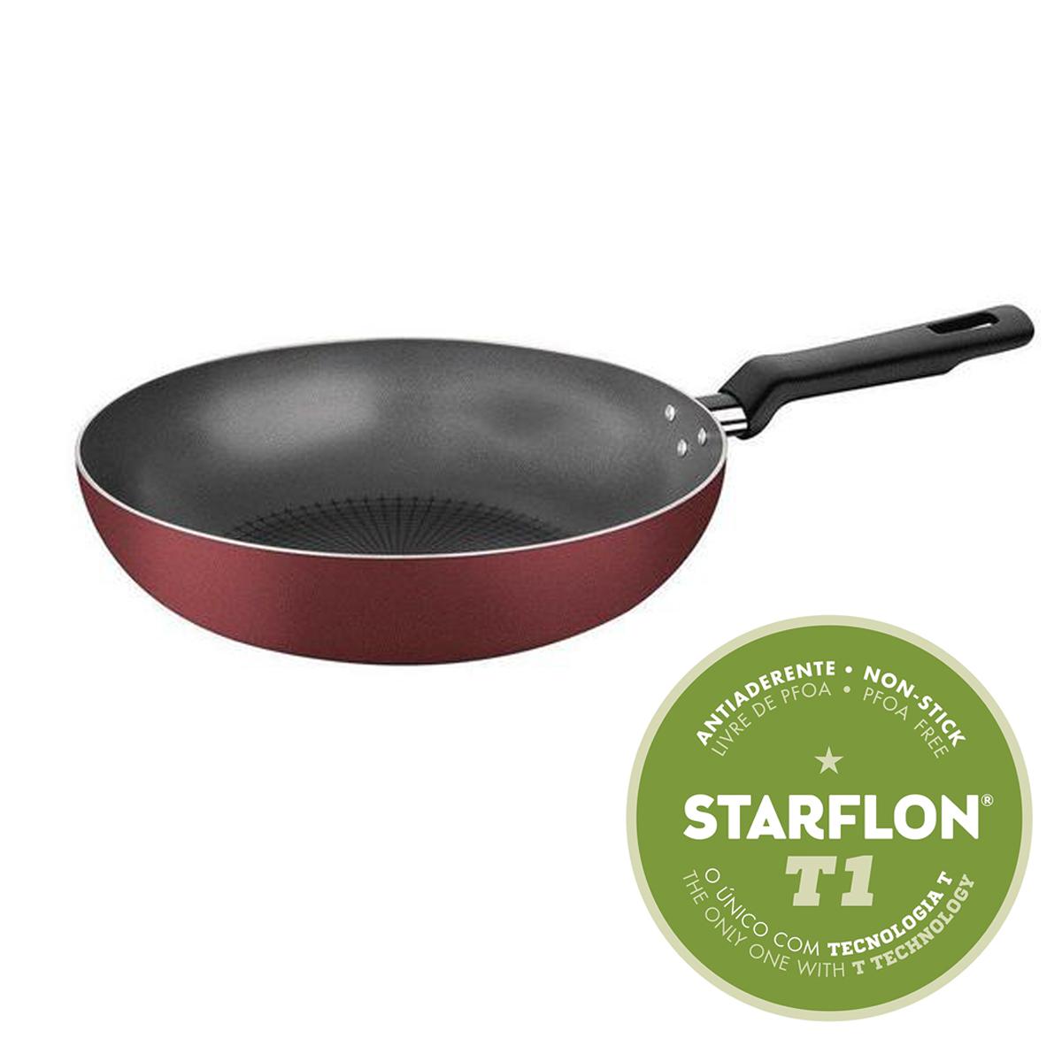 Frigideira Funda Tramontina Loreto Vermelha Antiaderente Starflon T1