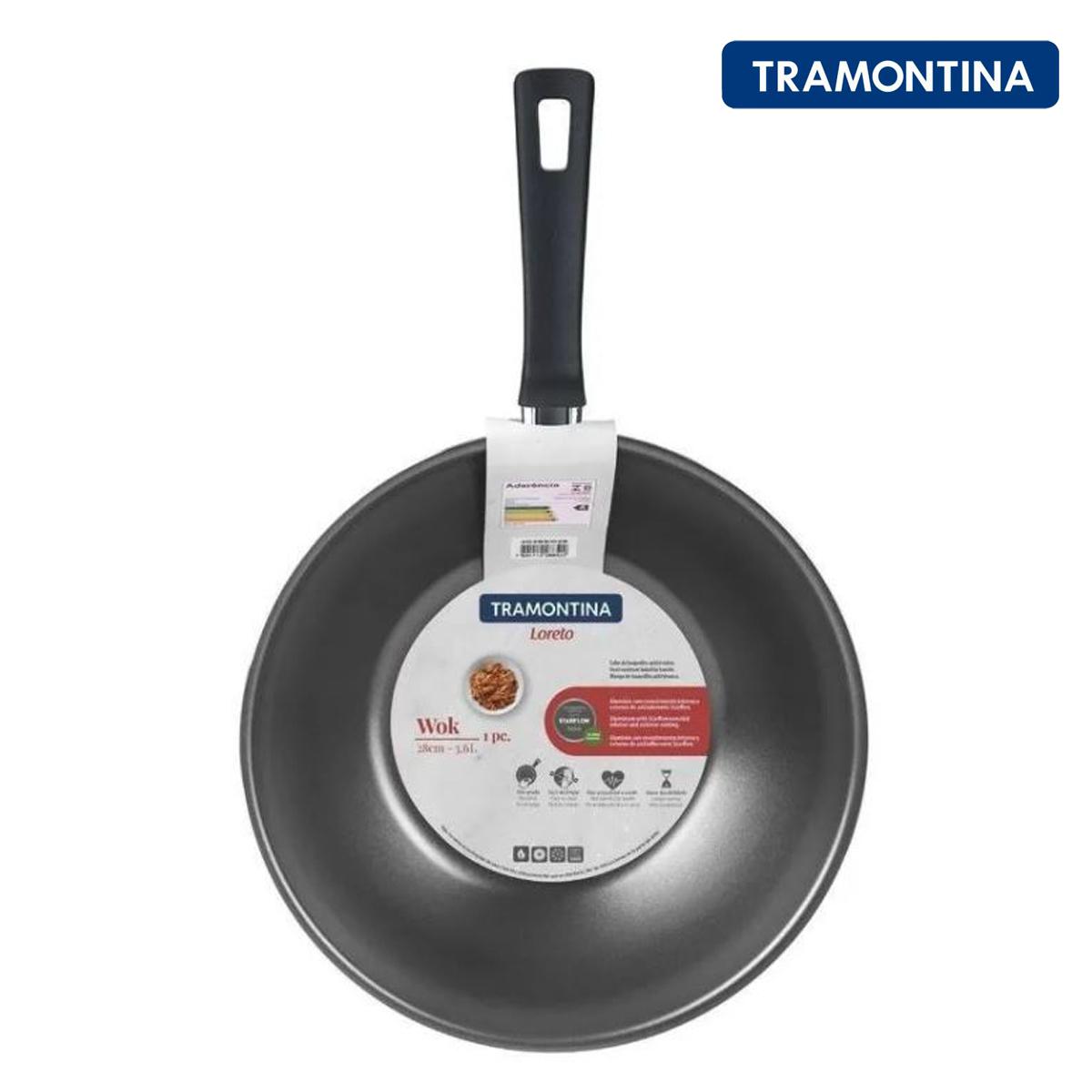 Frigideira Wok Tramontina Loreto C/ Revestimento Antiaderente Starflon Max Vermelho