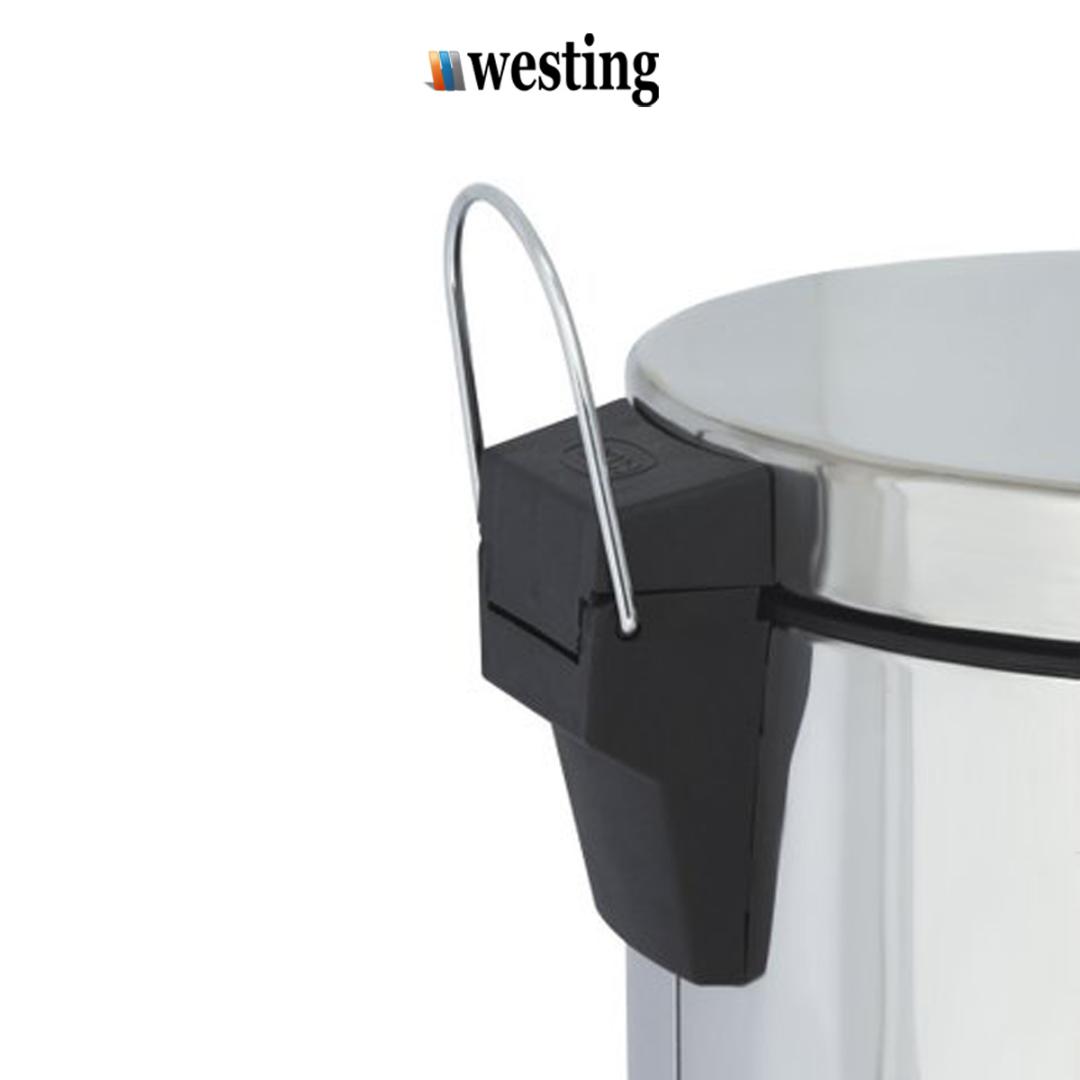 Lixeira Com Pedal 5 Litros Inox Com Acabamento Polido e Balde Interno - Westing