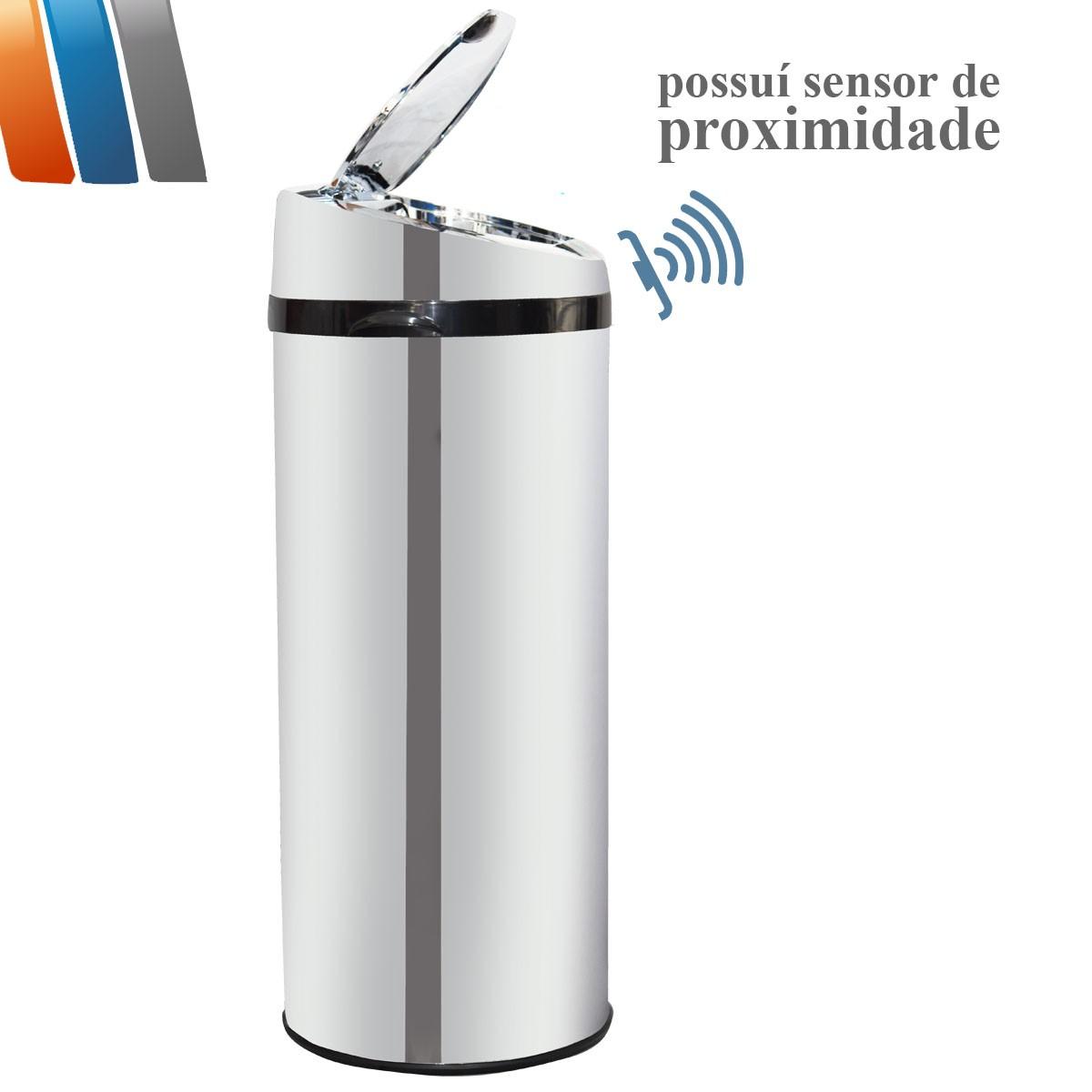 Lixeira Inox com Sensor Automática 42 Litros Westing