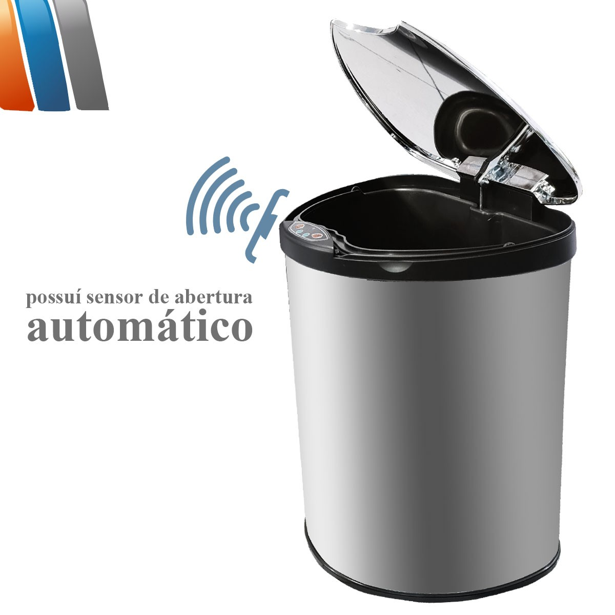 Lixeira Linha Premium Com Sensor Automática Inox Espelhado - 9 Litros Westing