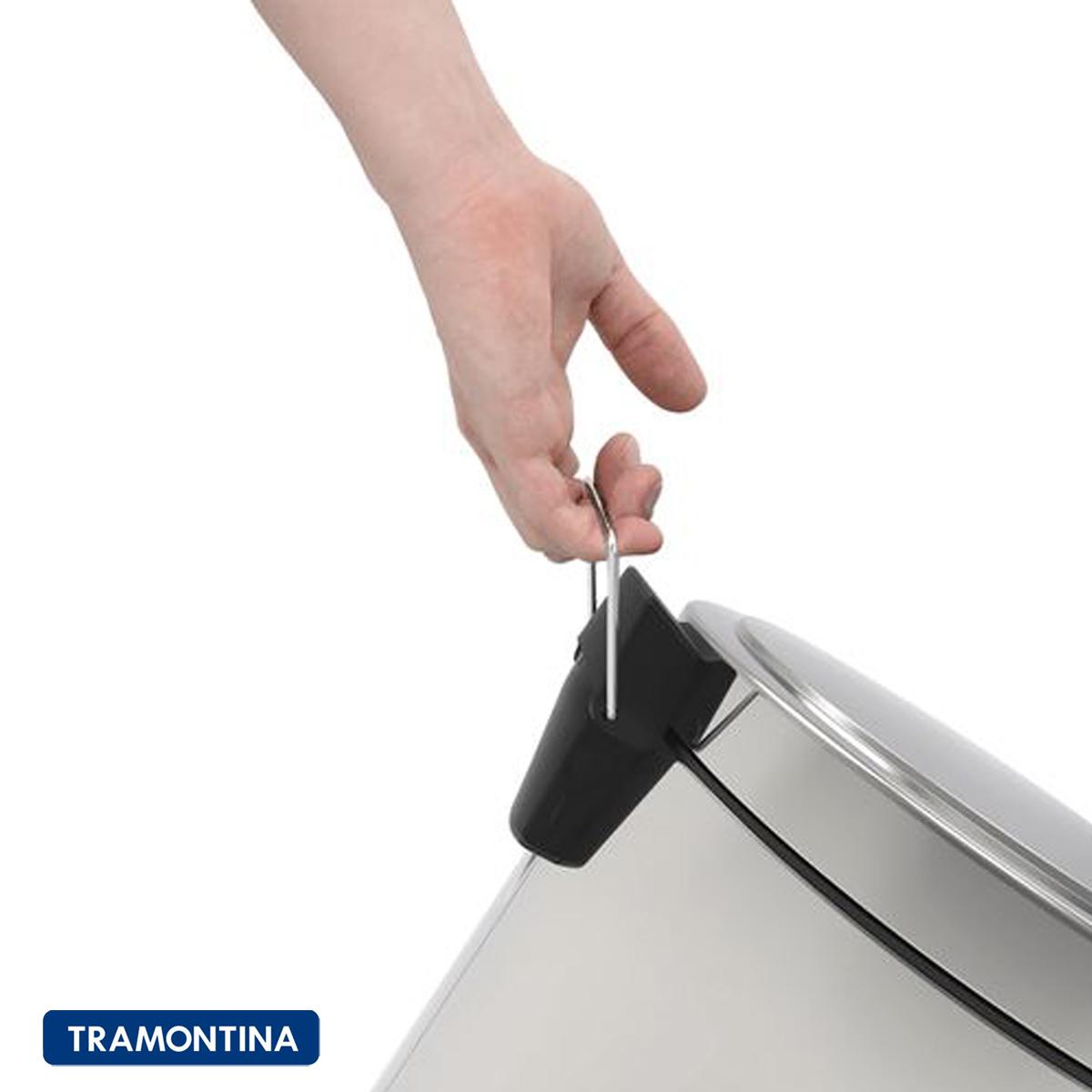 Lixeira Tramontina pedal 5 Litros com Balde Interno