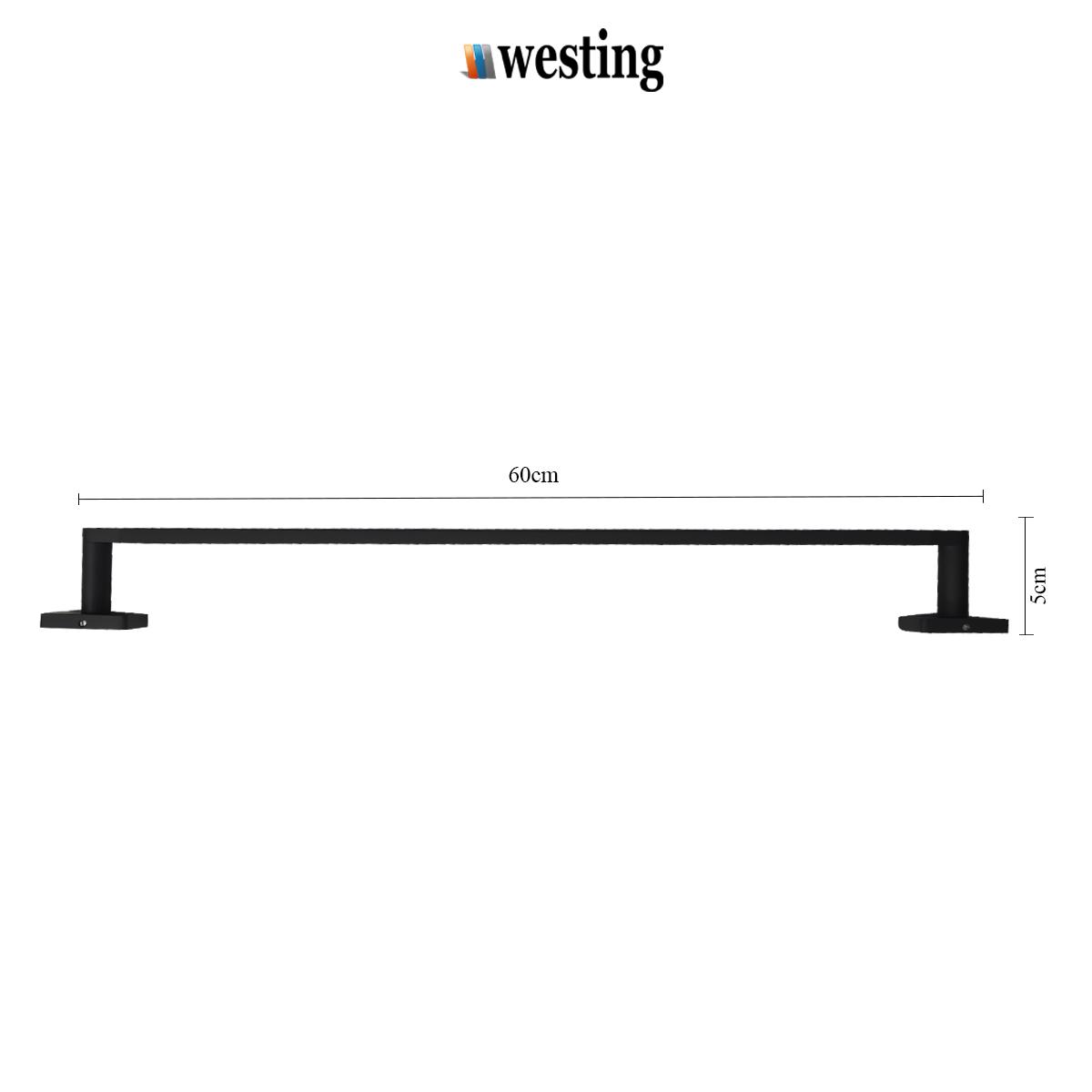 Porta Toalha de 60cm em Aço Inoxidável para banheiro - Westing