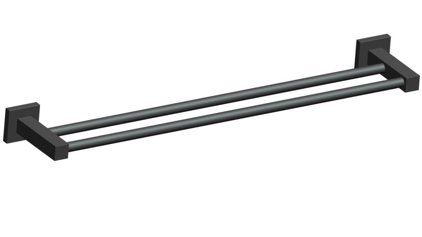 Porta Toalha de Banho Duplo de 60cm em Aço Inoxidável para Banheiro - Westing