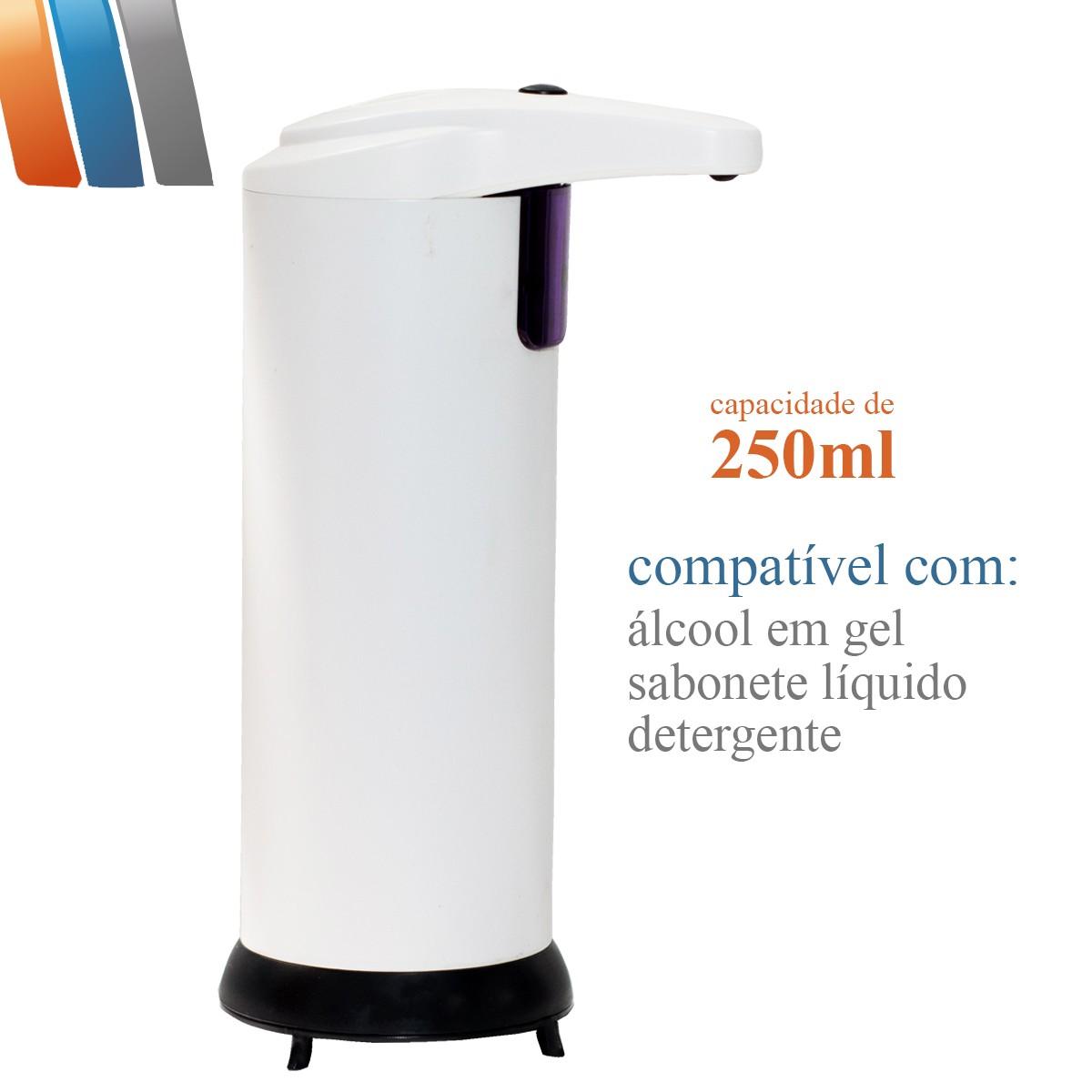 Saboneteira Dispenser Com Sensor Automática Branca - 250ml Westing