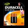 Pilha Alcalina AA Pequena Duracell Cartela 02 unidades