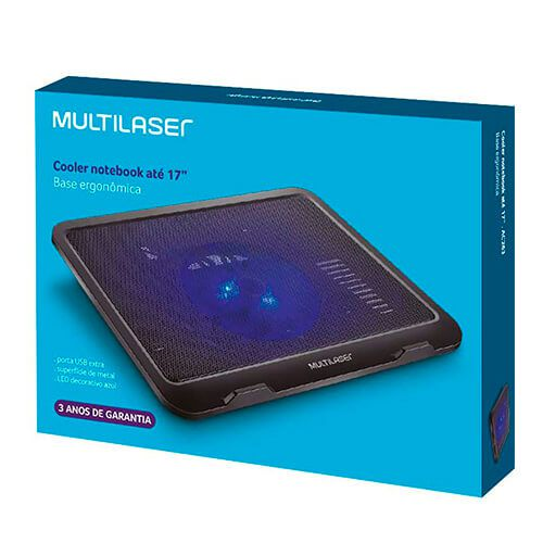 "Base para notebook 17"" slim com Led AC263 Mulilaser"