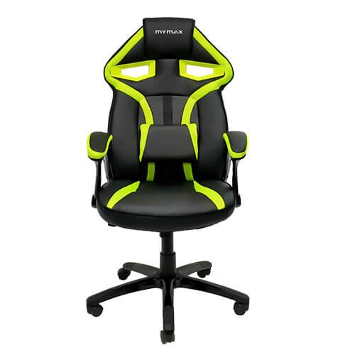 Cadeira Gamer MX1 Giratória MYMAX Preto/Verde