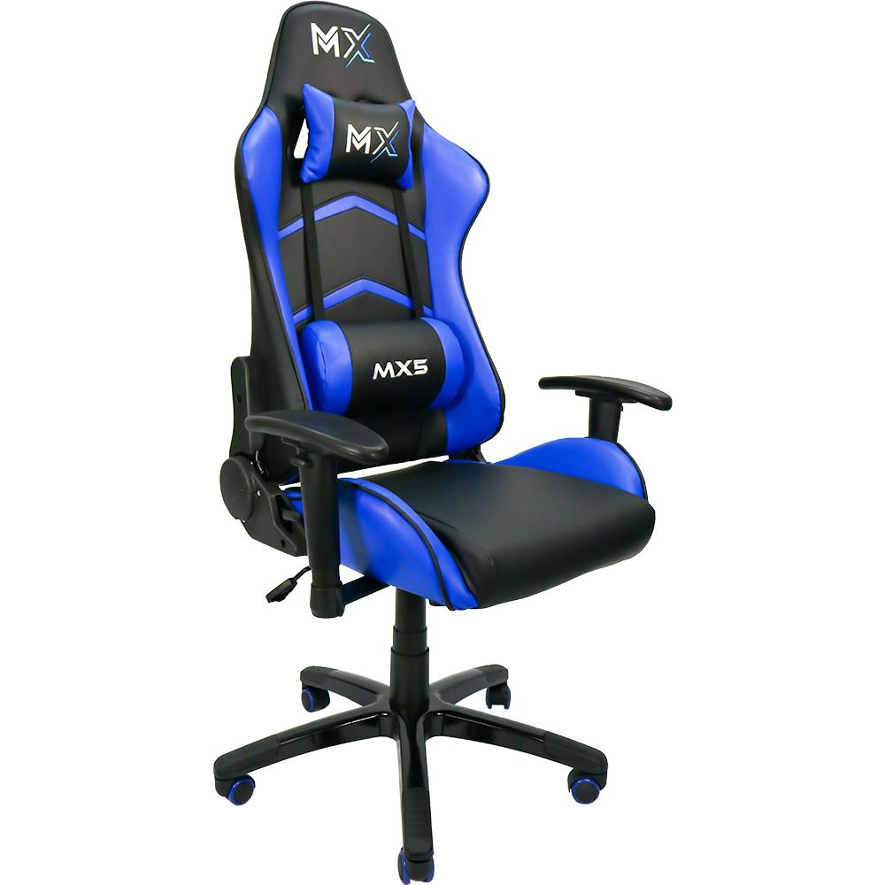 Cadeira Gamer MX5 Giratória MYMAX Azul/Preto