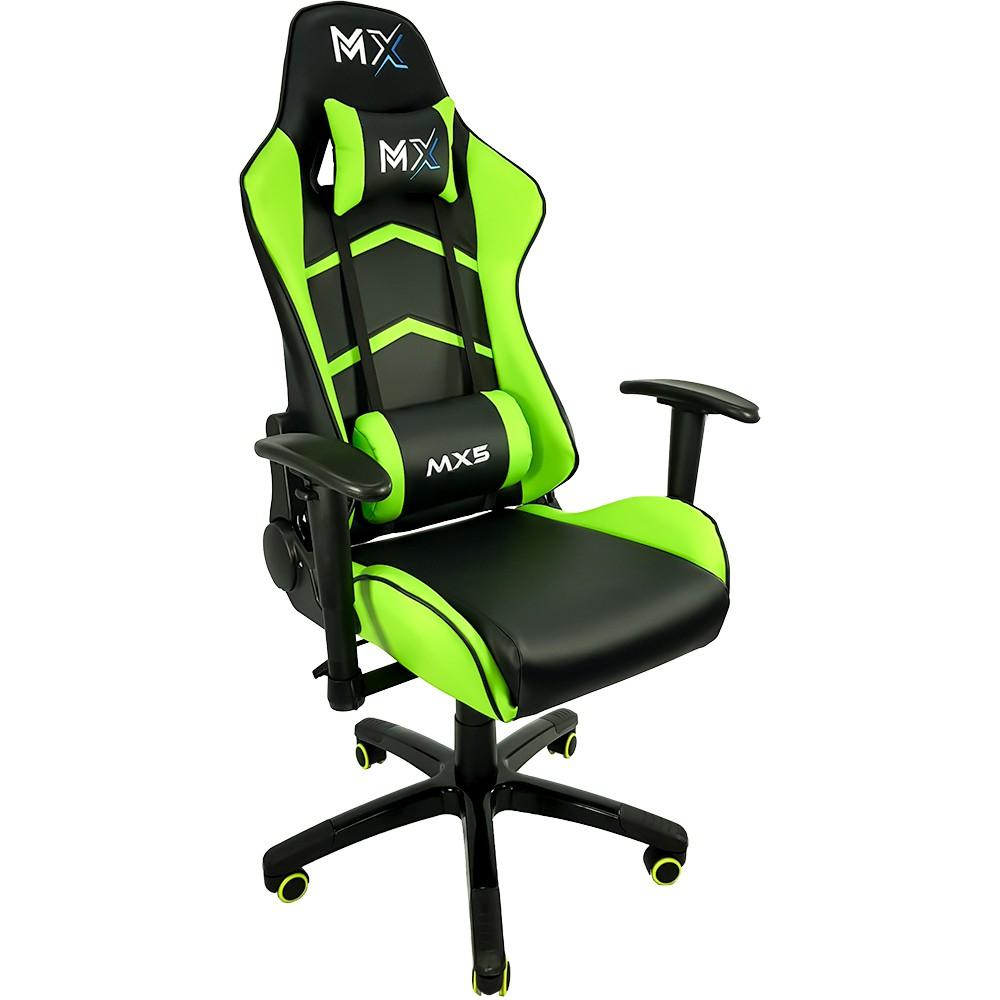Cadeira Gamer MX5 Giratória MYMAX Verde/Preto