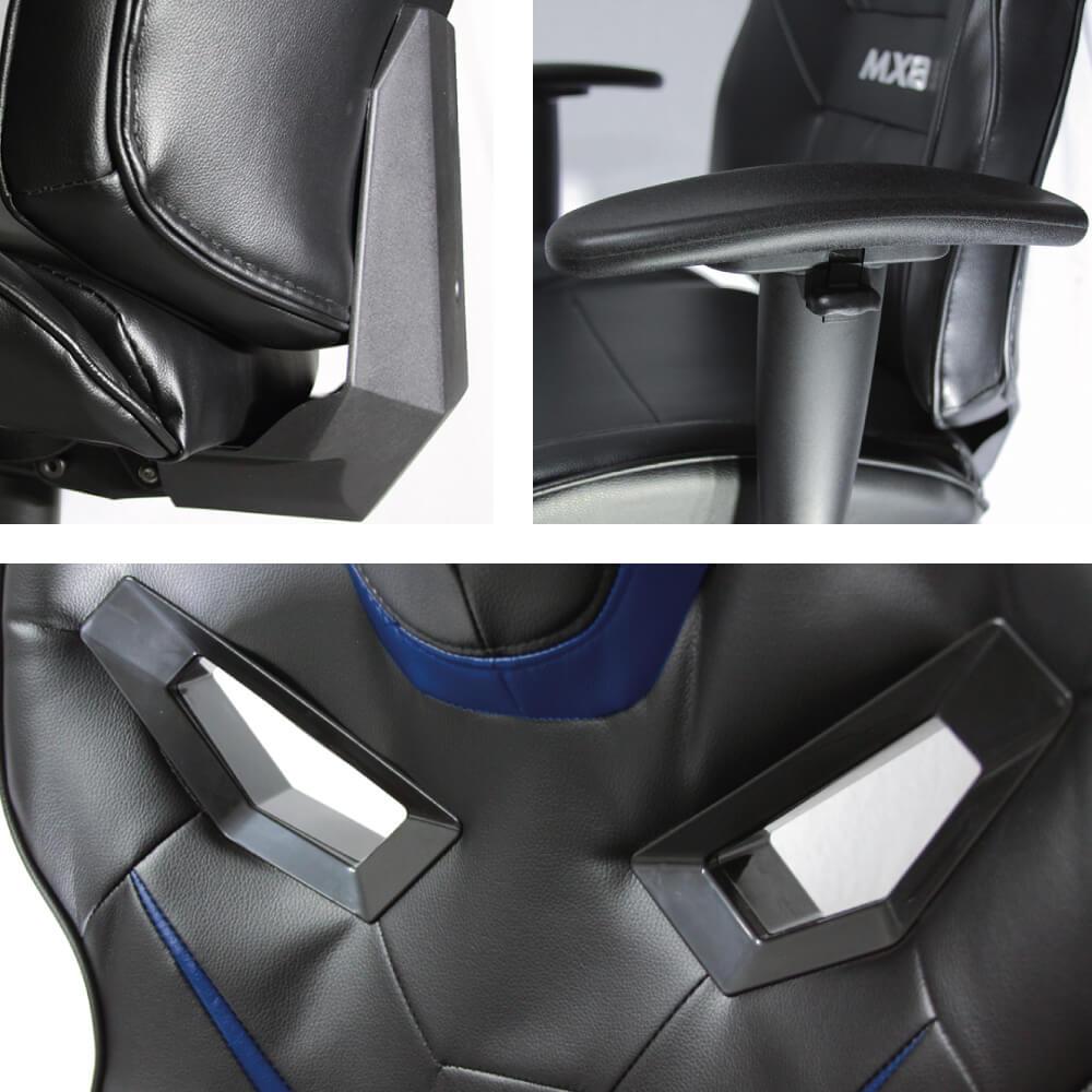 Cadeira Gamer MX8 Giratória MYMAX Azul/Preto