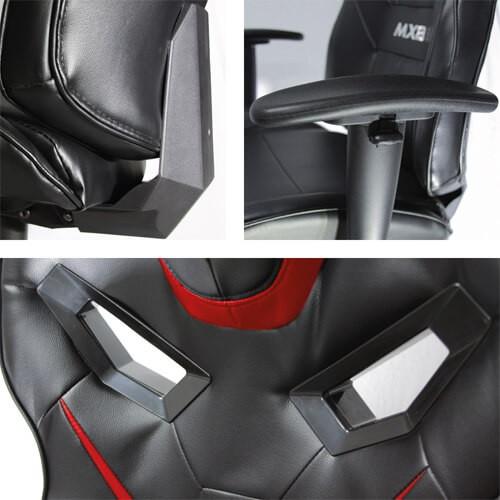 Cadeira Gamer MX8 Giratória MYMAX Vermelha/Preto