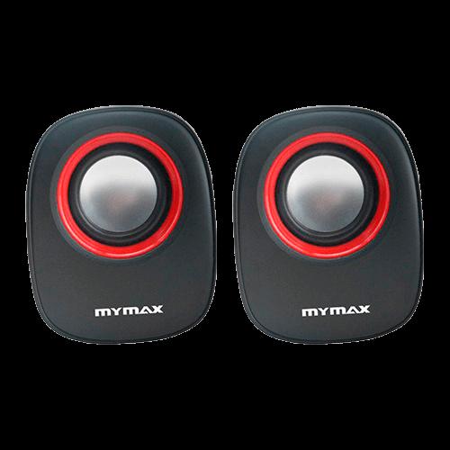 Caixa de Som 3w rms Mini Mymax Preto e Vermelha USB