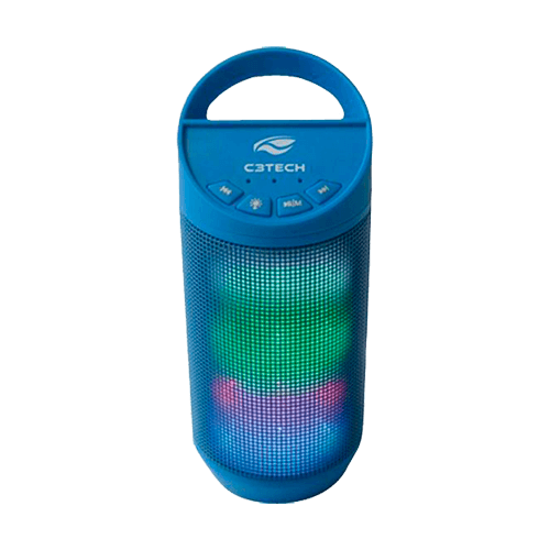 Caixa de som Bluetooth B50 C3Tech Azul
