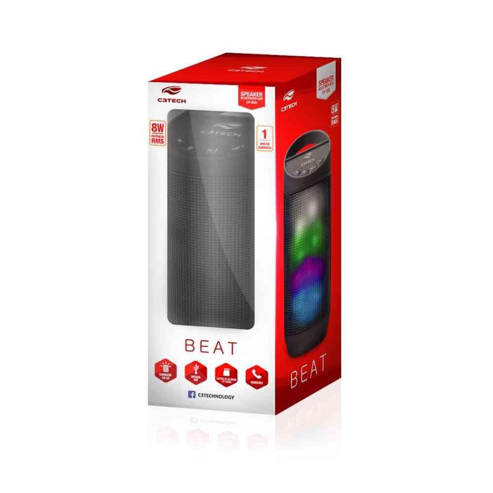 Caixa de Som Bluetooth C3Tech 8w B50 Preta
