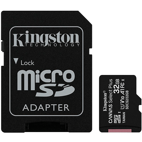 Cartao de Memória MicroSD 32Gb + Adaptador C10 Kingston