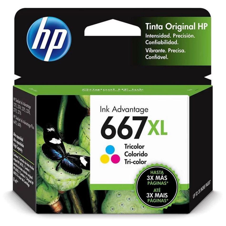 Cartucho HP 3YM80Al (667Xl) Color Original 8ml