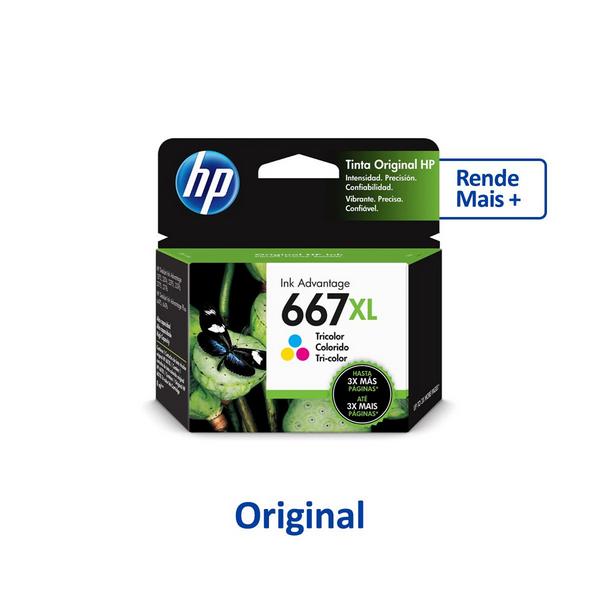 Cartucho HP 3YM81Al (667Xl) Preto Original 8,5ml