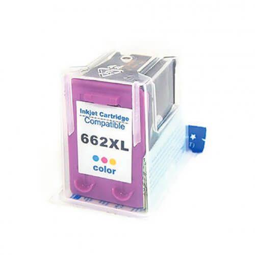Cartucho HP 662XL Colorido Compativel DeskJet 2516, 3516, 3546, 2546, 1516, 4646, 2646