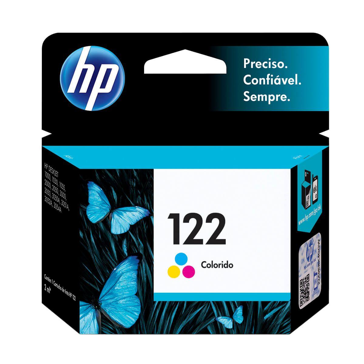 Cartucho HP CH562HB 122 Colorido 1,5ml Original