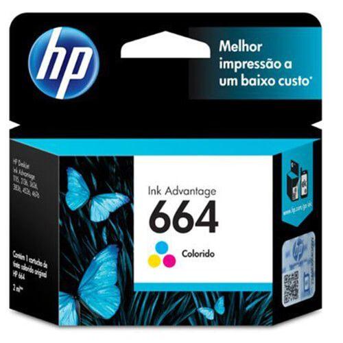 Cartucho HP FV28AB 664 Colorido 2ml Original