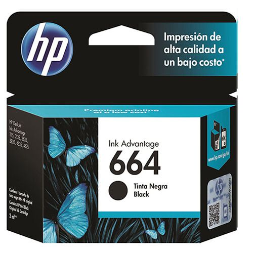 Cartucho HP FV29AB 664 Preto 2ml Original