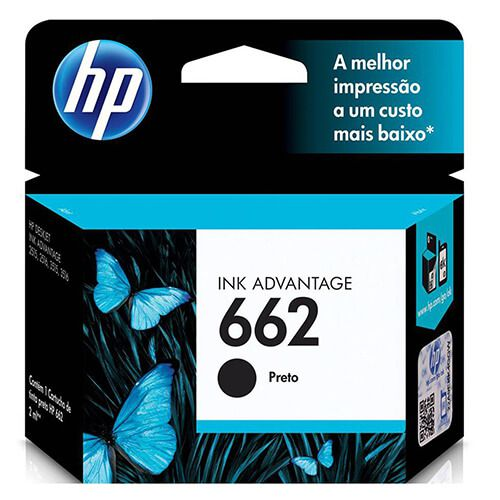 Cartucho HP Z103A 662 Preto 2ml Original