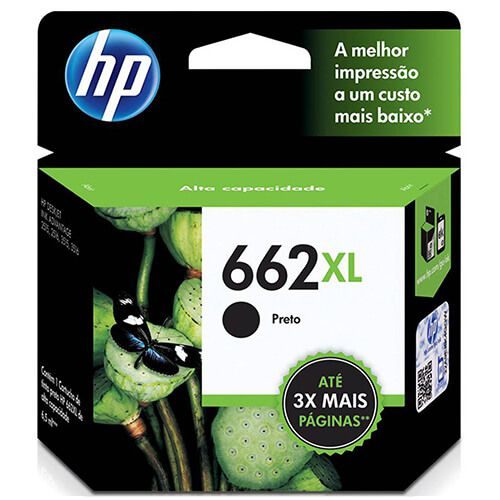 Cartucho HP Z105A 662XL Preto 6,5ml Original