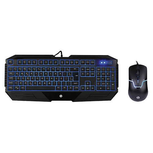 Combo Gamer Hp - Teclado Gamer HP Led Azul + Mouse Gamer HP Led Azul 1600DPi GK1100