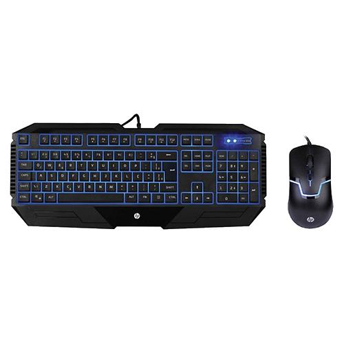 Combo Gamer Hp - Teclado Gamer HP Led Azul + Mouse Gamer HP Led Azul 1600DPi GK1100
