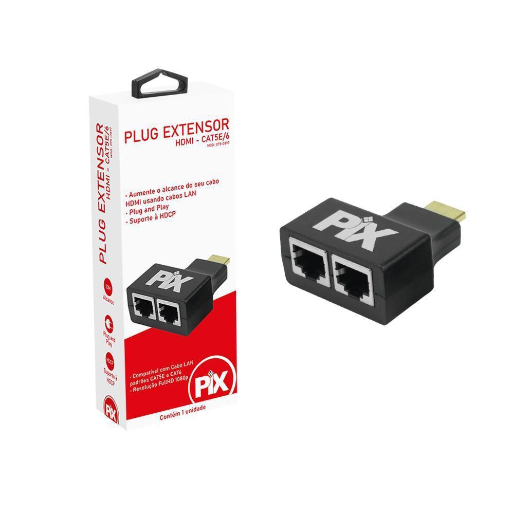 Conversor RJ45 x HDMI Cat5/6 20M Chip Sce