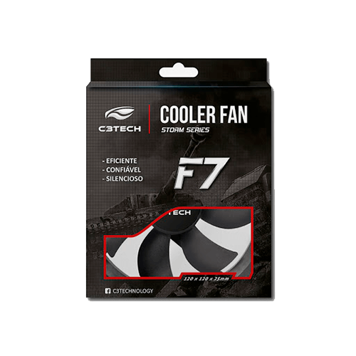 Cooler Fan 120mm L100BK Sem Led C3TECH