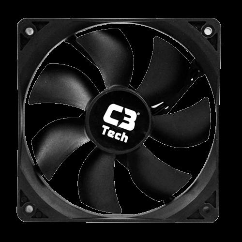 Cooler Fan 120mm L100BK Sem Led C3TECH