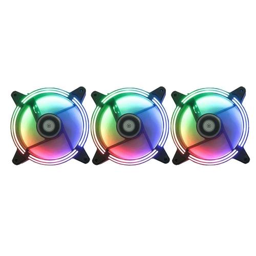 Cooler Fan Kit03 Fans RM-TO-02-RGB 120X120X25MM C/Controle  Tornado