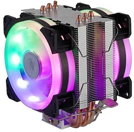 Cooler Gamer DX-9107D RGB Dex Dupla Fan Dissipador