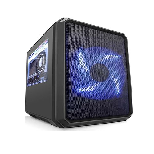 Gabinete Gamer Cubo Kmex GC01RC com Fans Azul