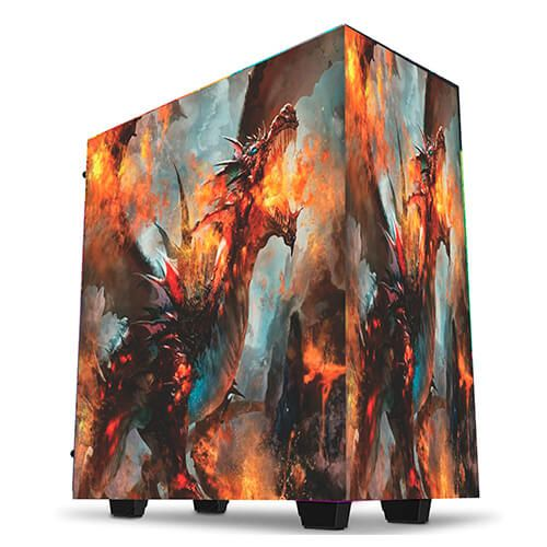 Gabinete Gamer Customizado Dragon Thermaltake V200