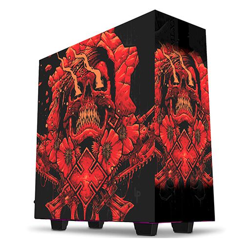 Gabinete Gamer Customizado Skull Thermaltake V200