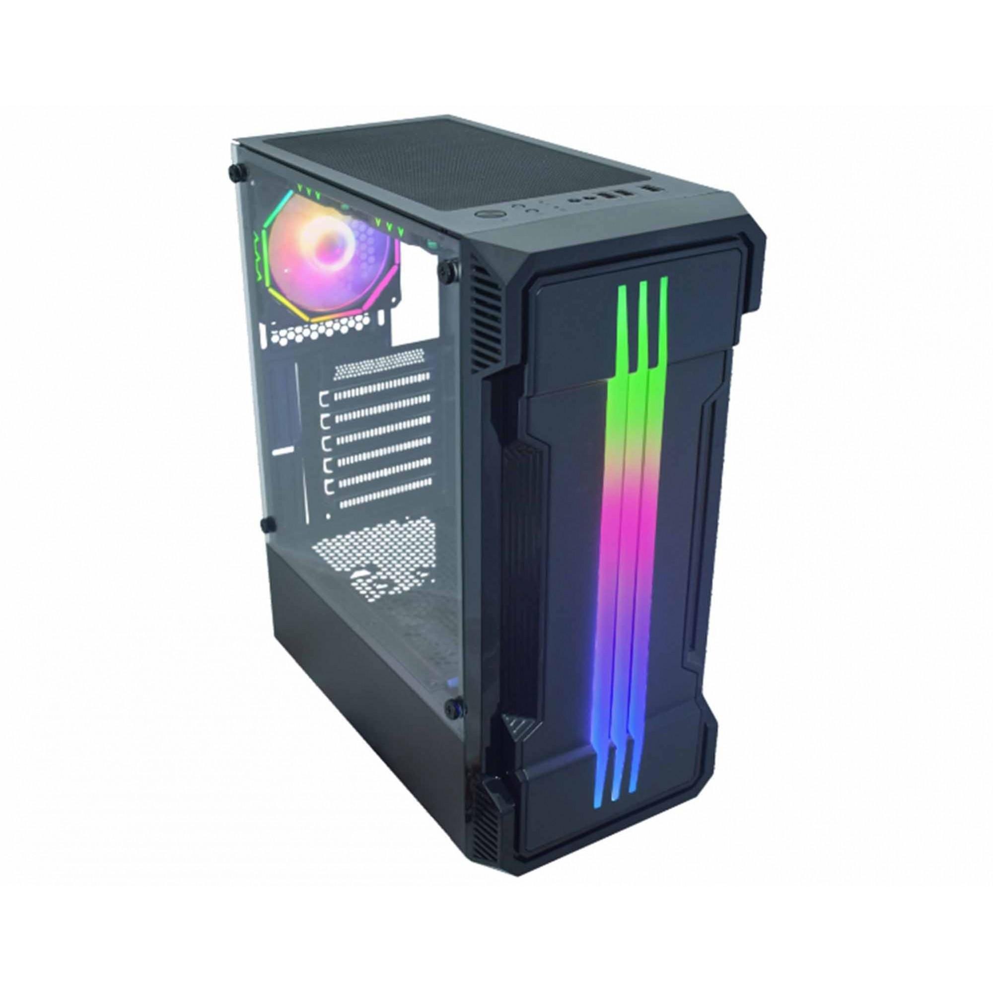 Gabinete Gamer Kmex Bifrost II RGB sem Fans CG01KB