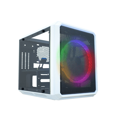 Gabinete Gamer Kmex CG05RC Cubo Branco Micocraft fan 120mm