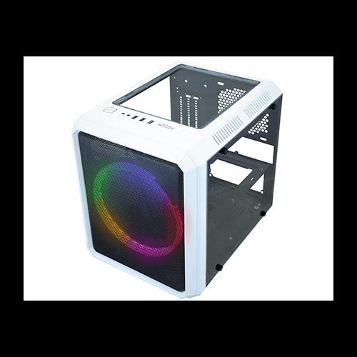 Gabinete Gamer Kmex CG05RC Cubo Branco Micocraft fan 120mm